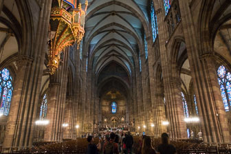 Norte Dame Cathedral-Inside Strasbourg, France